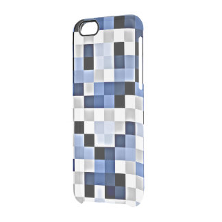 Blue Hints Mosaic Transparent Print iPhone Case