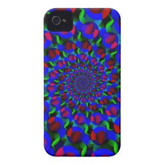 Blue Hippie Spiral Fractal Art Pattern Case-Mate iPhone 4 Case