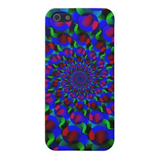 Blue Hippie Spiral Fractal Art Pattern iPhone SE/5/5s Cover