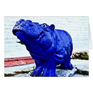blue hippo card