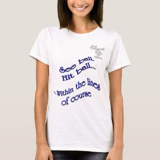 blue hit ball Tennis Women's Basic T-Shirt