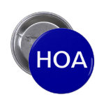 Blue HOA Home Owners Association Button