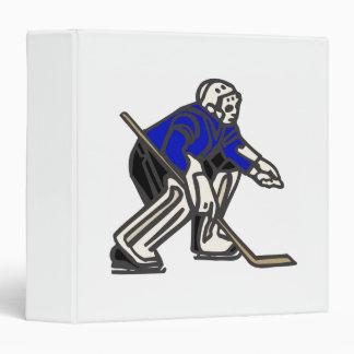 Blue Hockey Goalie Binder