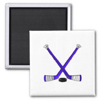 Blue Hockey Refrigerator Magnet