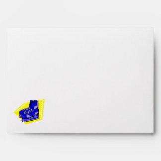 Blue hockey skates envelope