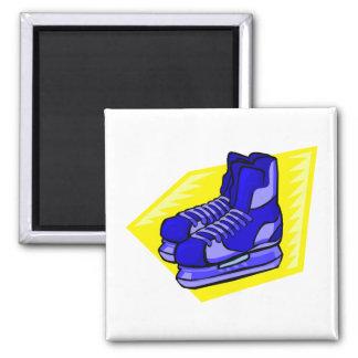 Blue hockey skates magnet