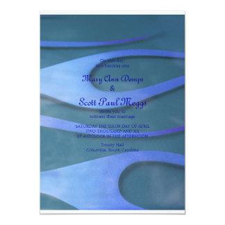 "Blue Hodrod Flames Invitation 5"" X 7"" Invitation Card"