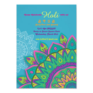 Indian festival invitations announcements zazzle blue holi invitation stopboris Images