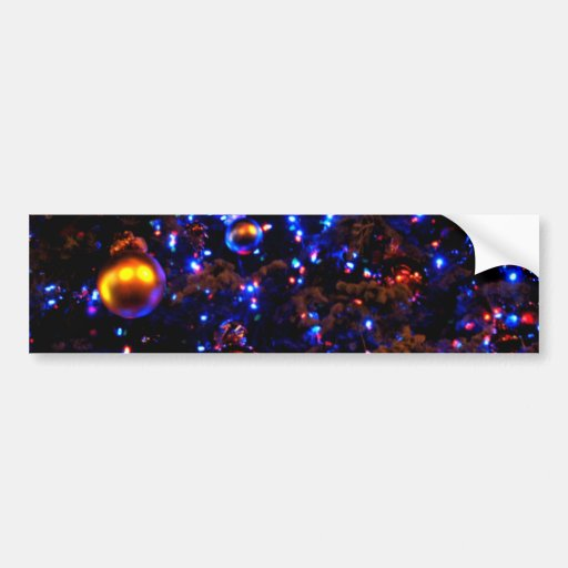 Blue Holiday Glow Bumper Stickers