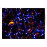 Blue Holiday Glow Greeting Card