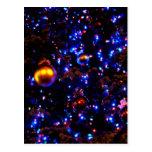 Blue Holiday Glow Postcard