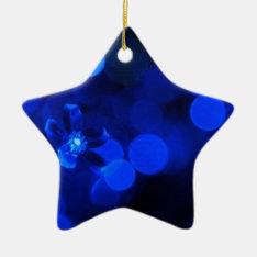 Blue Holiday Lights Ceramic Ornament at Zazzle