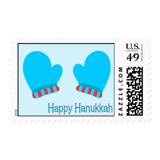 Blue Holiday Mittens (Happy Hanukkah) Stamps