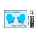 Blue Holiday Mittens (New Year Warm Wishes) Stamp