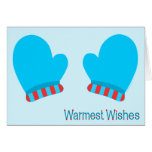 Blue Holiday Mittens (Warmest Wishes) Cards