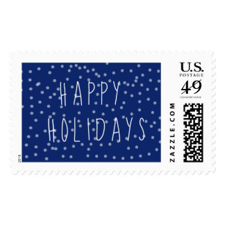 Blue Holiday Postage Stamps