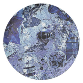 Blue Holiday Trio2 Party Plate