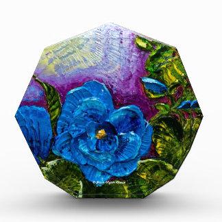 Blue Hollyhocks Acrylic Award