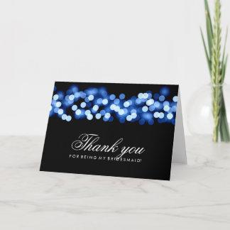 Blue Hollywood Glam Thank You Bridesmaid