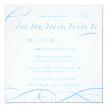 Blue Holy Communion Invite at Zazzle