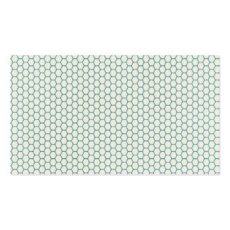 Blue Honey Comb Pattern Double-Sided Standard Business Cards (Pack Of 100)