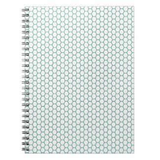 Blue Honey Comb Pattern Spiral Note Books