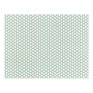 Blue Honey Comb Pattern Postcard