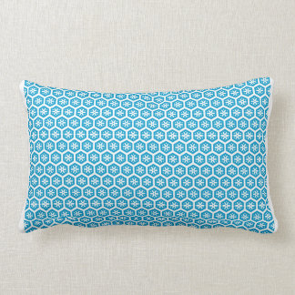 Blue Honeycomb with Snowflake Pillow
