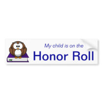 Blue Honor Roll Bumper Sticker