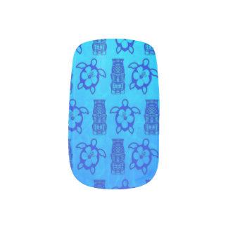 Blue Honu And Tiki Mask Minx ® Nail Art