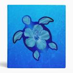Blue Honu Turtle and Hibiscus Binders