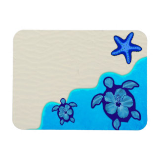 Blue Honu Turtles Magnet