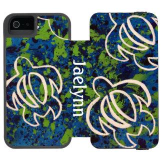 Blue Honu Wallet Case For iPhone SE/5/5s