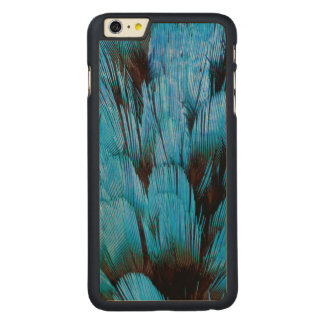 Blue Hooded Pita Feather Abstract Carved Maple iPhone 6 Plus Slim Case