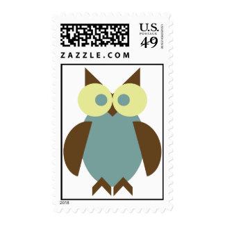 Blue Hoot Owl Stamp