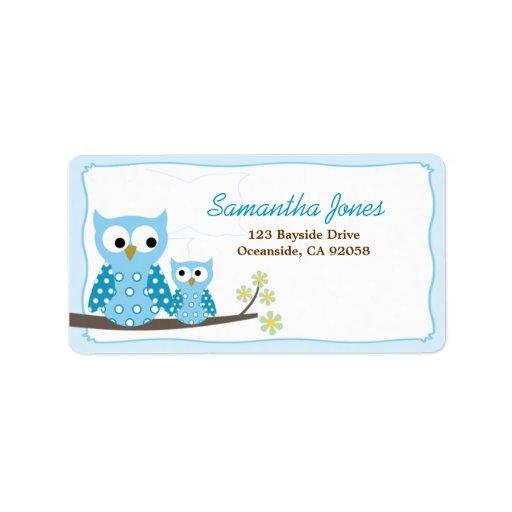 owl baby shower labels owl baby shower address labels return address