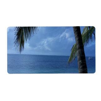 Blue Horizon Beach Label