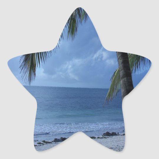 Blue Horizon Beach Star Sticker
