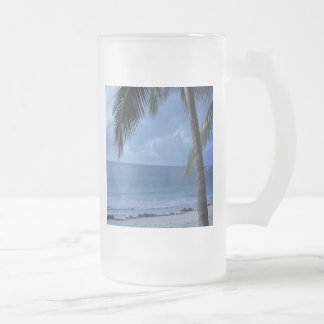 Blue Horizon Frosted Glass Beer Mug