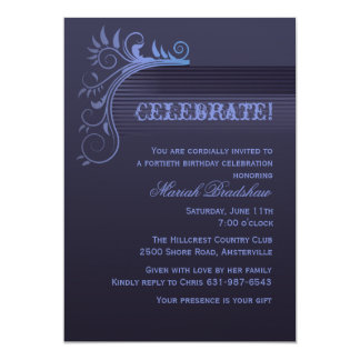 Blue Horizon Invitation