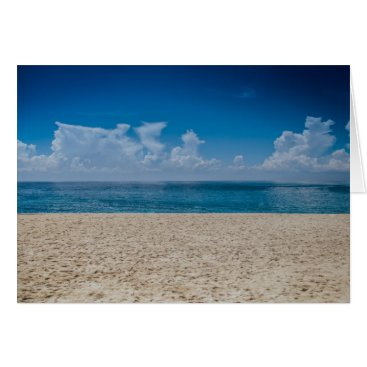 Beach Themed Blue Horizon Sandy Seashore Card