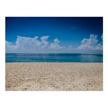 Beach Themed Blue Horizon Sandy Seashore Postcard