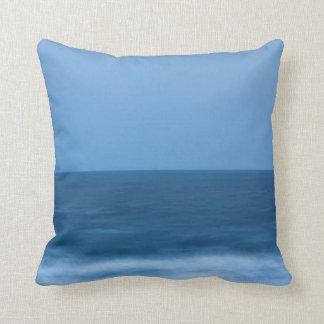 Blue Horizon Seascape Throw Pillow