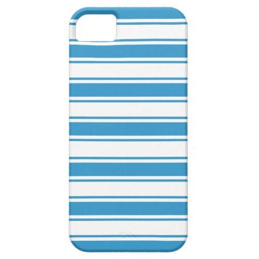 Blue Horizontal Stripe iPhone 5 Cover