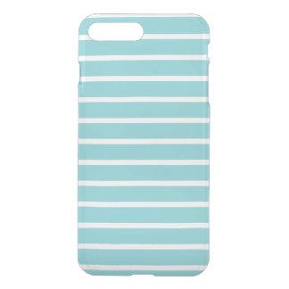 Blue Horizontal Stripe Pattern iPhone 7 Plus Case