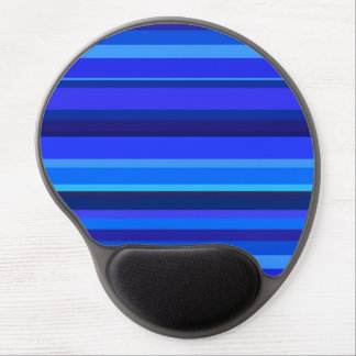 Blue horizontal stripes gel mouse pad