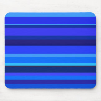 Blue horizontal stripes mouse pad