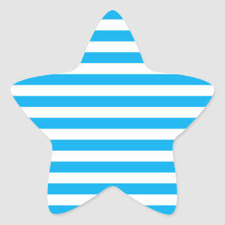 Blue Horizontal Stripes Star Sticker