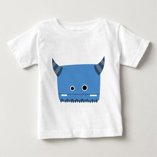 Blue Horned Monster Baby T-Shirt