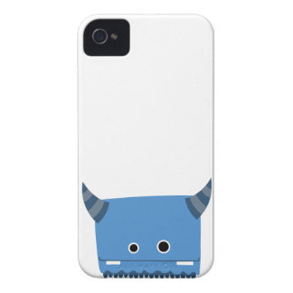 Blue Horned Monster Case iPhone 4 Case-Mate Case